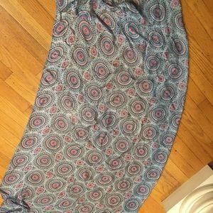 Huge Vintage Echo Silk Scarf